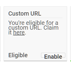 youtube custom url change