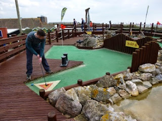 Photo of the Sharksville Adventure Golf course at Harbour Park in Littlehampton