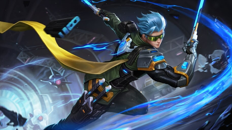 gusion cyber ops skin mobile legends uhdpaper.com 4K 3.834 wp.thumbnail