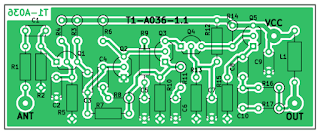 Antenna amplifier PCB outline