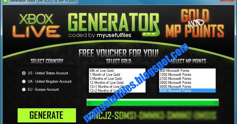 Xbox 360 Live Gold Amp Microsoft Points Generator FREE Codes