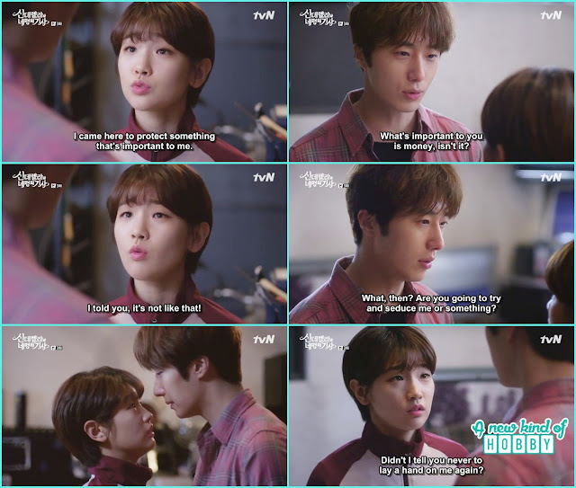 Ji Woon grab ha won from the back - Cinderella and 4 Knights - Episode 3 Review