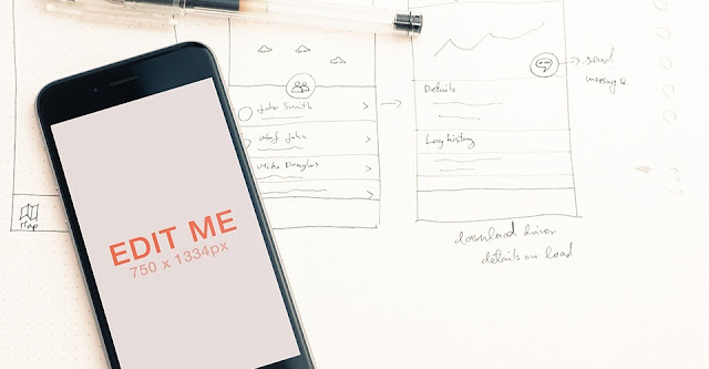 8 Free iPhone 6 Mockups Template