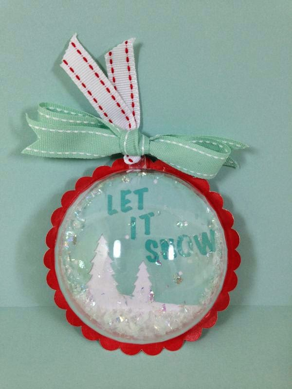 Close To My Heart Artfully Sent Cricut Christmas Ornament