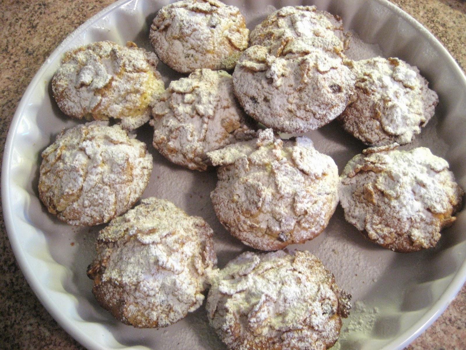 Biscotti ai cornflakes ed uvetta