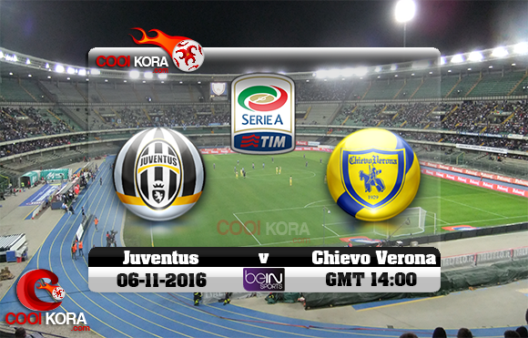 مشاهدة مباراة كييفو فيرونا ويوفنتوس اليوم 6-11-2016 في الدوري الإيطالي