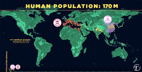Video crescimento da população mundial desde os primórdios - Img 1