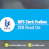 IBPS Clerk Pre Result 2018 Out | Check Result Here