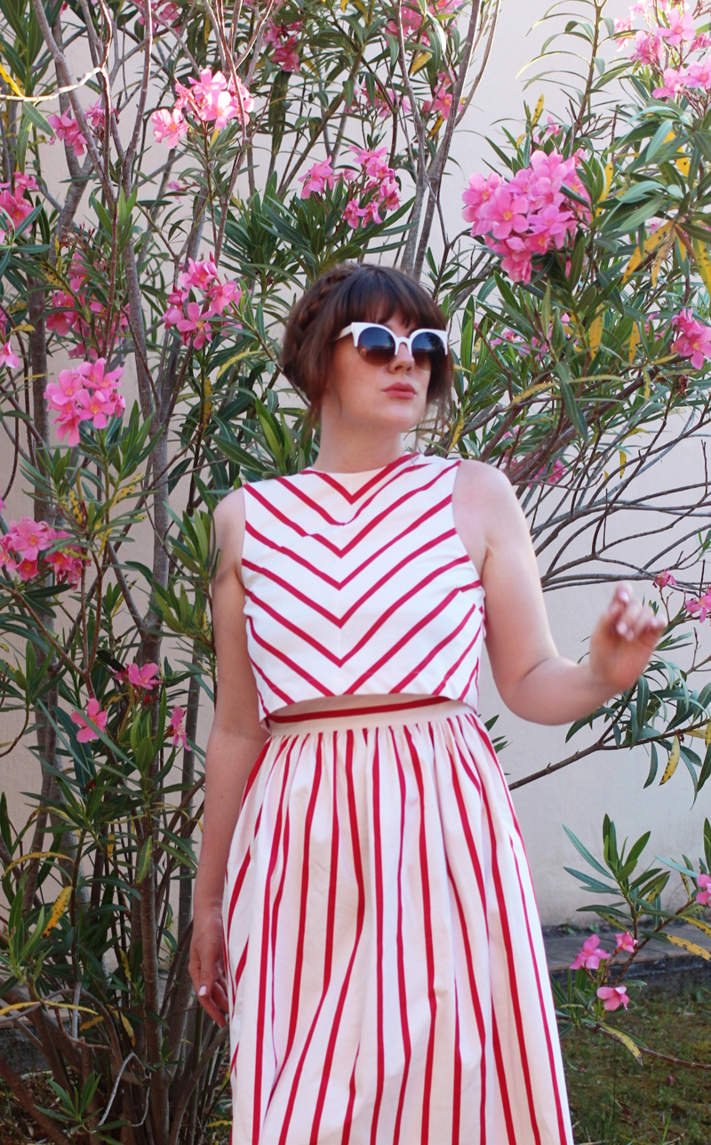 red striped asos dress