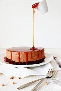 Chocolade karamel zeezout cheesecake