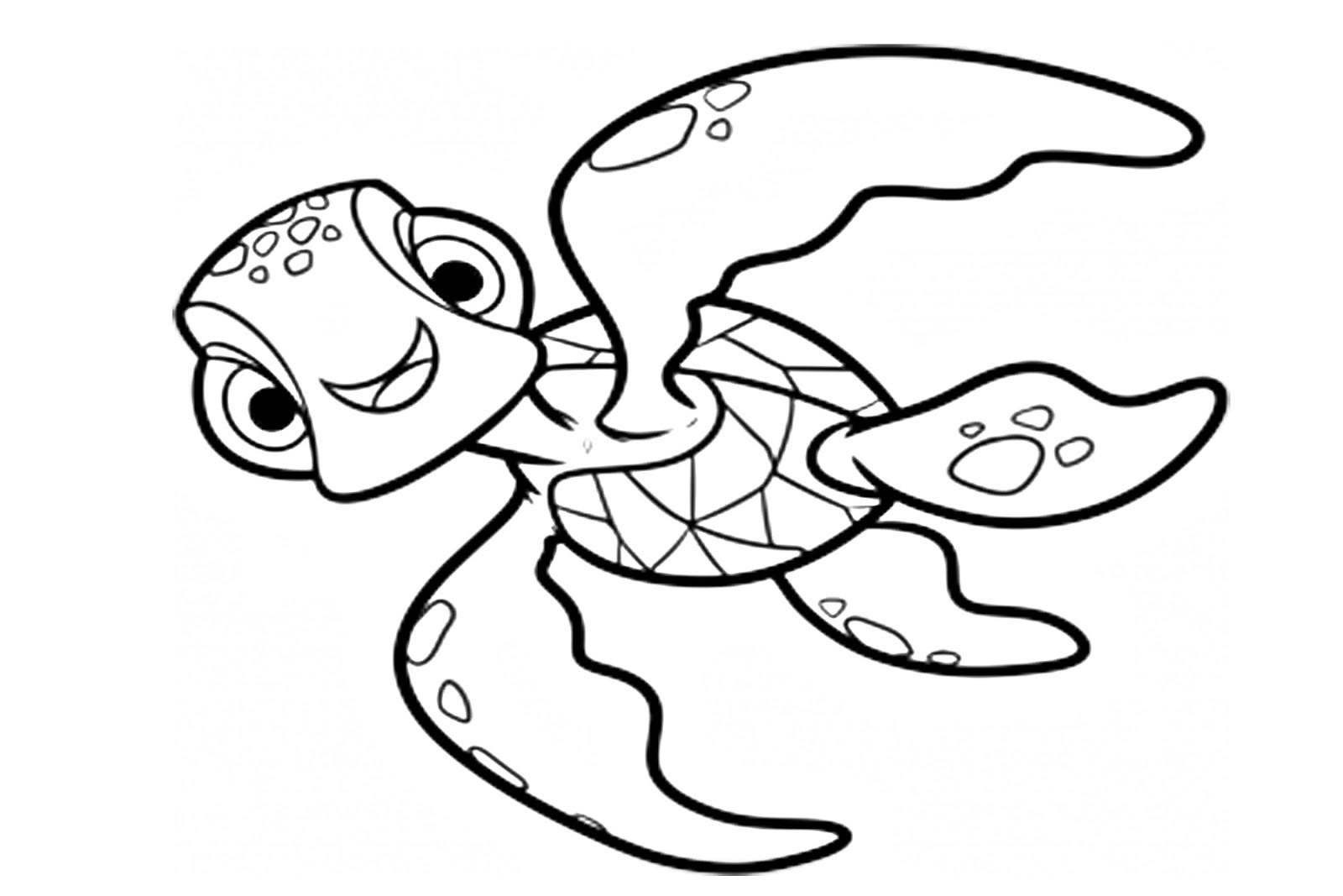 Tortuga De Nemo Para Colorear