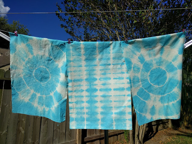 tie-dyed muslin place mats