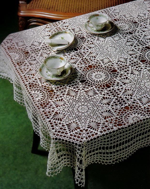 Crochet Pattern Lace Of Fabulous Tablecloth / Bedspread