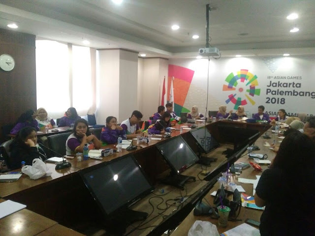 rapat volunteer asian games di fx sudirman