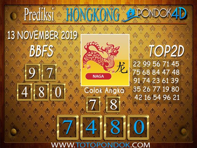 Prediksi Togel HONGKONG PONDOK4D 13 NOVEMBER 2019
