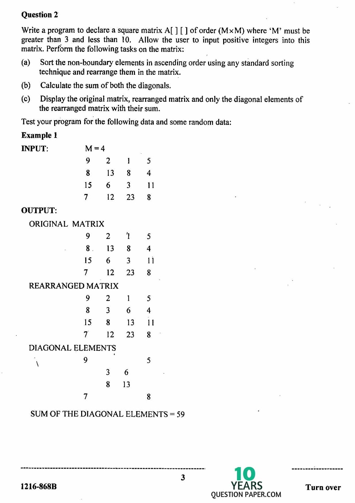 isc 2016 class 12th computer science practical question paper
