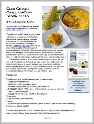 Spoon bread cleo coyle pdf coverg forumfinder Gallery