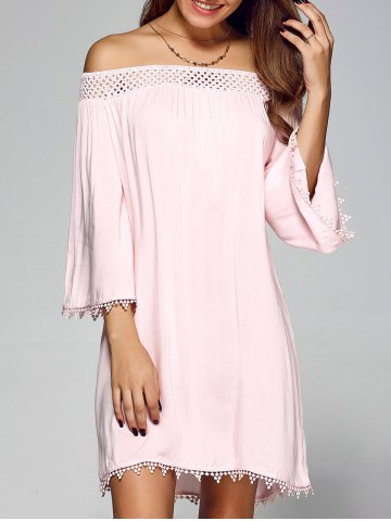 http://www.rosegal.com/casual-dresses/streetwear-openwork-lace-off-the-shoulder-dress-750478.html