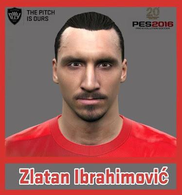 PES 2016 Zlatan Ibrahimovic Face