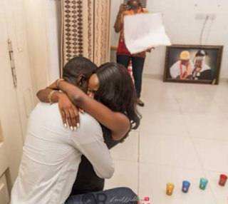 Photos: Nigerian guy proposes to his girlfriend of 15 years