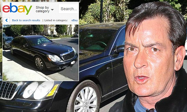 Charlie Sheen sells bulletproof limousine on eBay