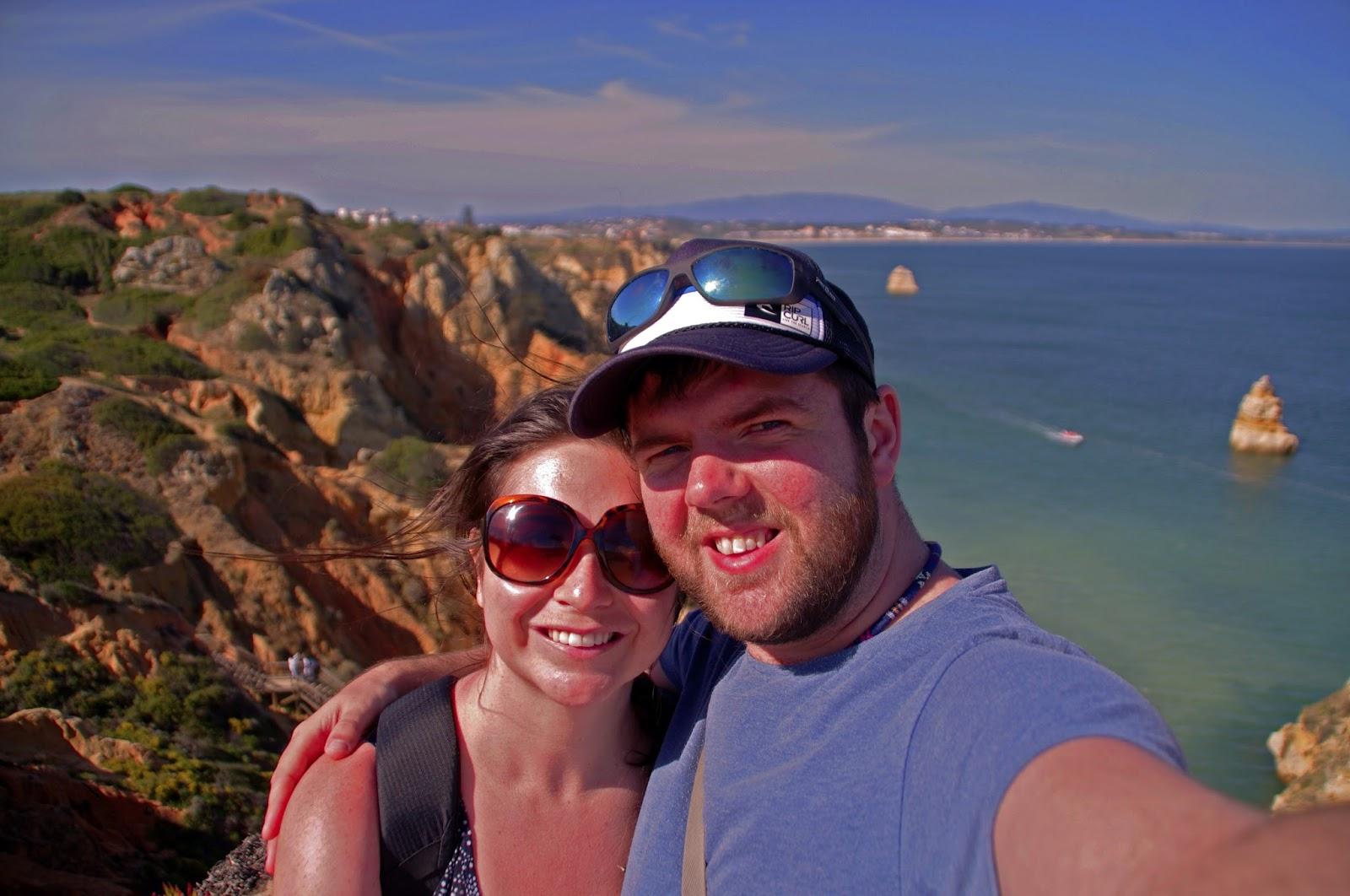 Simone and Dan on Lagos Beach Algarve