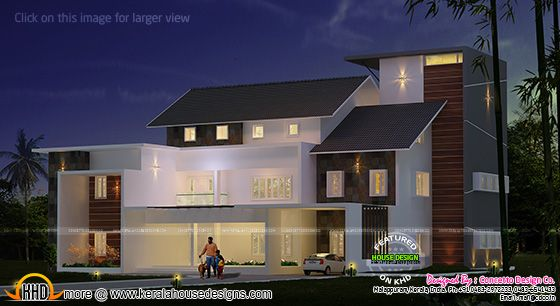 Modern mix luxury house plan