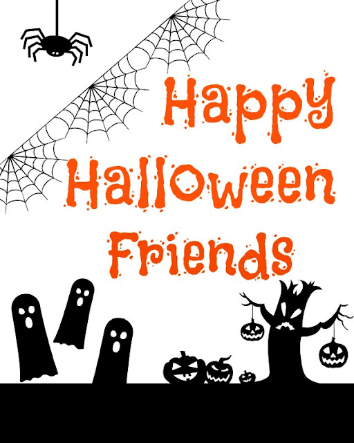 Happy Halloween Friends Free Printable