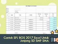 Contoh SPJ BOS 2017 Excel Untuk Jenjang SD SMP SMA