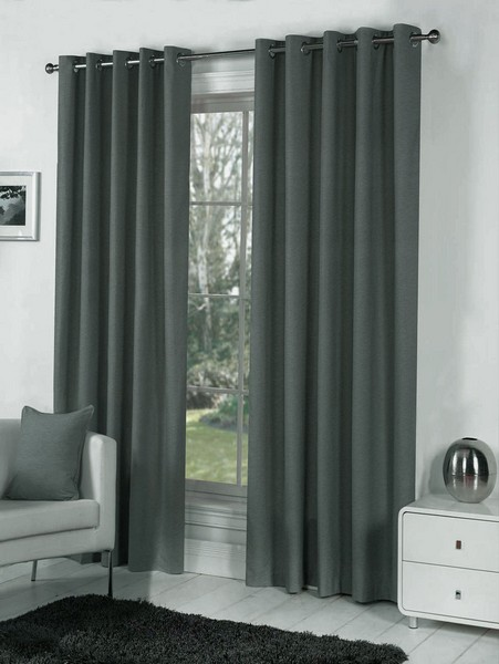 Glamorous Dark grey blackout curtains