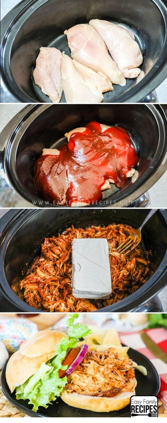 CROCKPOT RECIPES | Creamy Slow Cooker BBQ Chicken