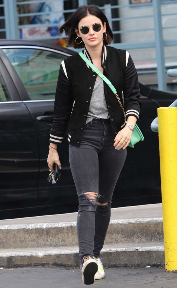 Lucy Hale Looks Hot in Black Jeans