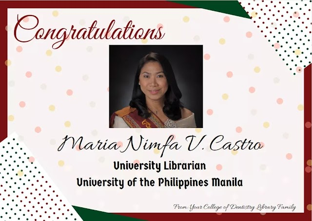 Congratulations to Ma'am Nimfa Castro