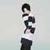 off shoulder stripe sweater_오프 숄더 줄무늬 니트스웨터_남성 의류