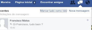 Abrir chat no Facebook