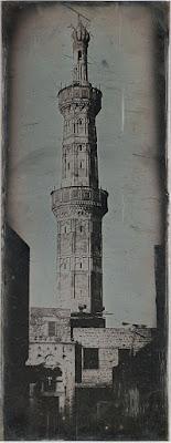 Minaret à Alexandrie photographié par Girault de Prangey en 1842