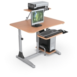 professional computer desk that raises and lowers