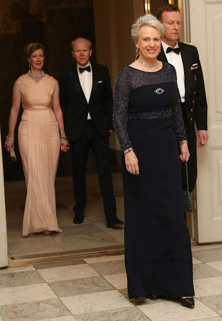 Crown Prince Frederik and Crown Princess Mary of Denmark, Prince Joachim and Princess Marie of Denmark, Princess Benedikte, Princess Nathalie of Sayn-Wittgenstein-Berleburg and her husband Alexander Johannsmann
