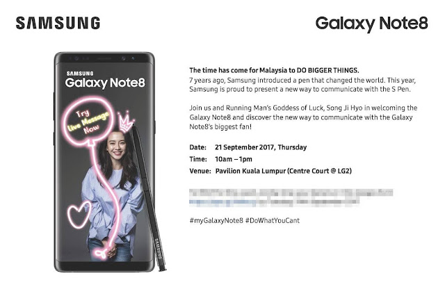 Running Man Song Ji Hyo 宋智孝 송지효 Coming to Malaysia Samsung Galaxy Note 8 Launch!!