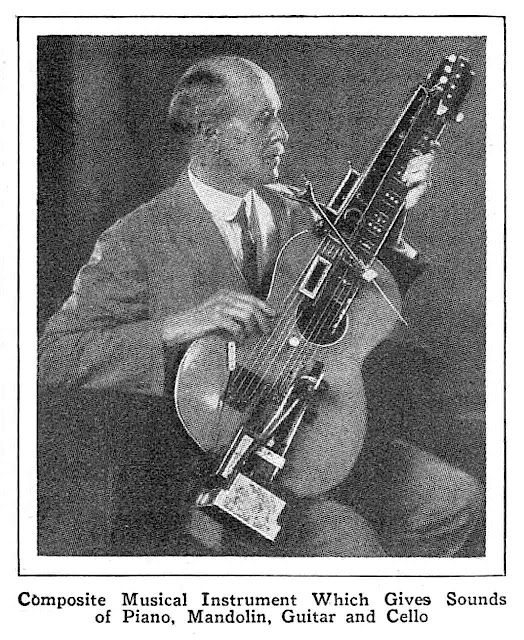 photograph of a 1931 composite musical instrument
