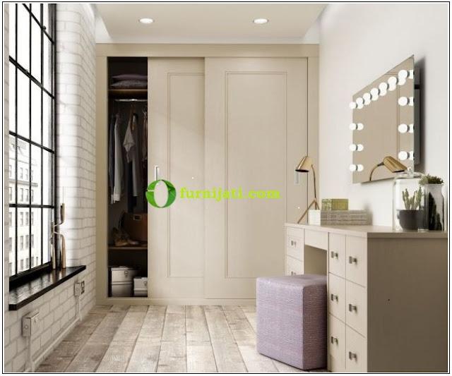 Desain lemari pakaian untuk kamar sempit