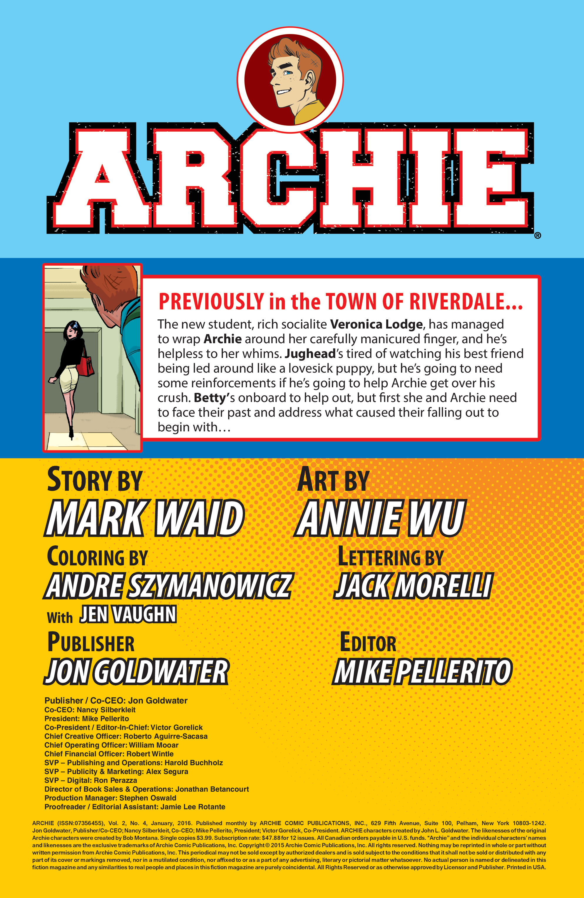 Read online Archie (2015) comic -  Issue #4 - 2