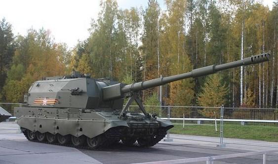 Pasukan Rusia Terima  Artileri Tercanggih howitzer 2S35 Koalitsiya-SV Terbaru