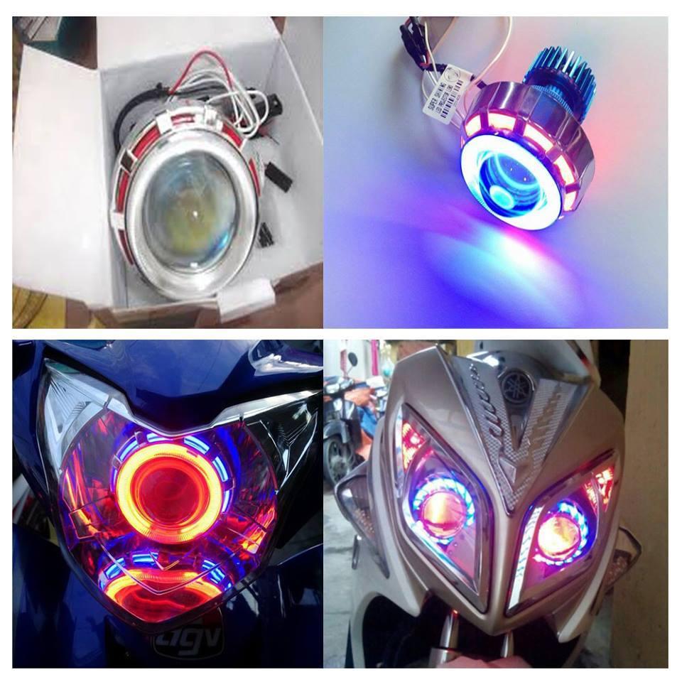Đèn gầm gắn Exciter 150: siêu sáng các loại 12 tia, 24 tia, 36 tia, 48 tia: đèn sử dụng bóng đèn led siêu sáng màu với choá thuỷ tinh chịu nhiệt cho ...