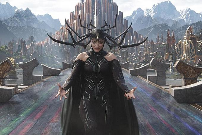 In Marvel Studios' Thor: Ragnarok, Thor is imprisoned on the other side of the universe without his mighty hammer and finds himself in a race against time to get back to Asgard to stop Ragnarok – the destruction of his homeworld and the end of Asgardian civilization – at the hands of an all-powerful new threat, the ruthless Hela.