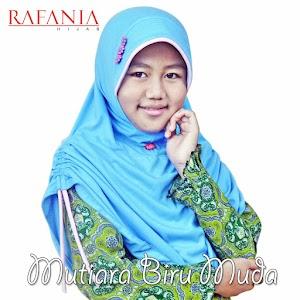 Jilbab Rafania Model Mutiara Warna Biru Muda