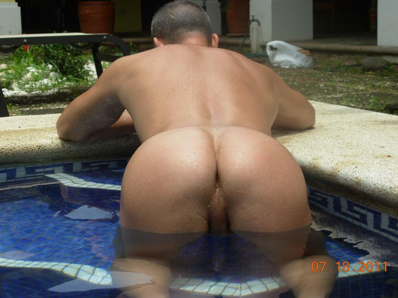 Men bending over naked