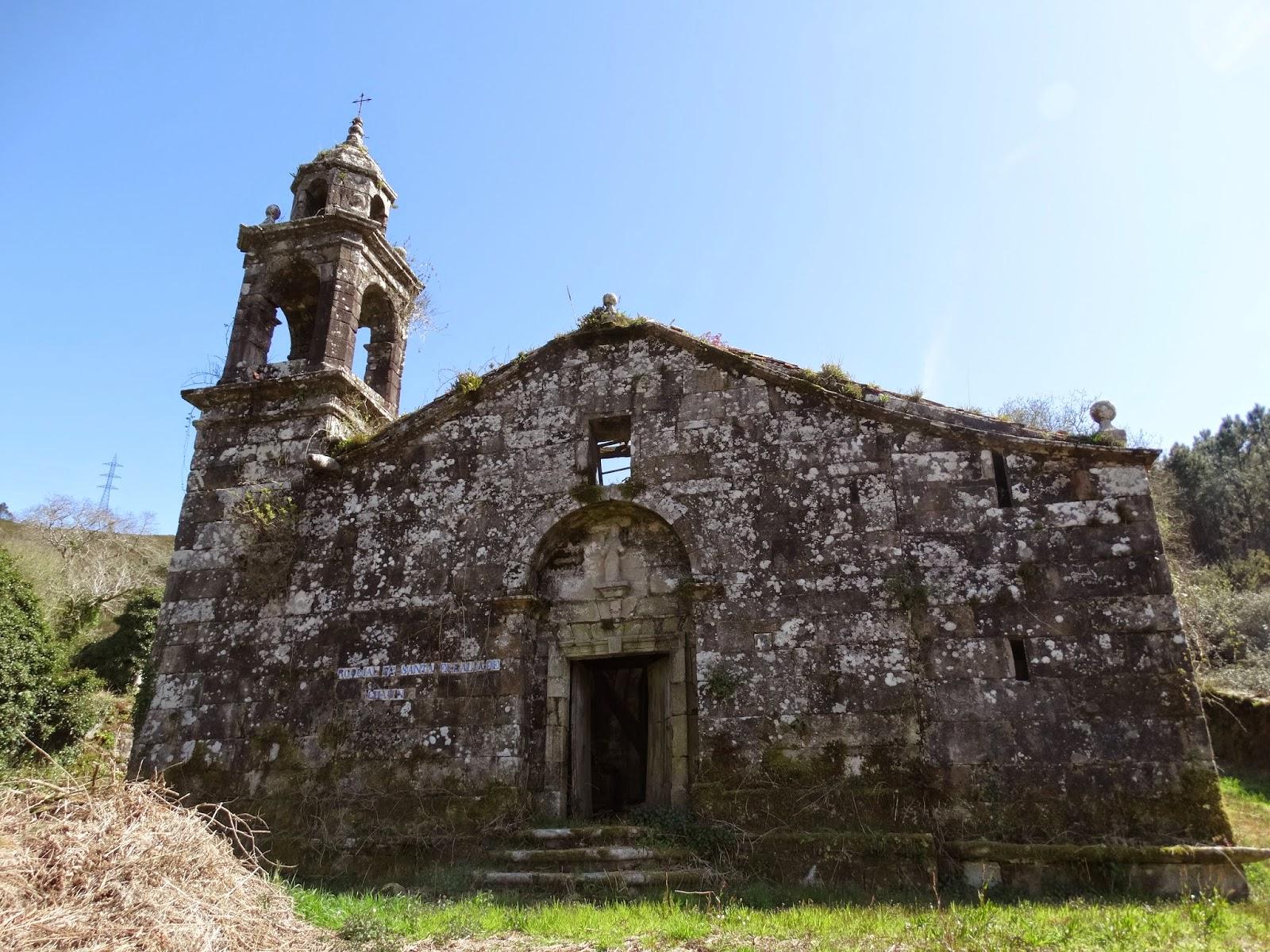 Iglesia de Santa Baia de Chacín en Mazaricos