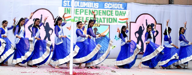 Independence-celebration-at-St-Columbus-School-faridabad