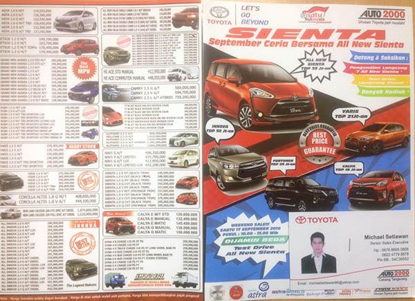 Promo Toyota Tangerang Selatan